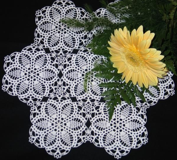 Free Vintage Crochet Tablecloth Patterns | motifs in crochet ...