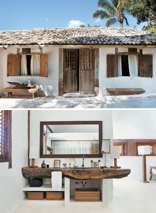 A Rustic Chic Beach House In Brazil The Style Files