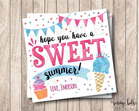 image regarding Have a Sweet Summer Printable known as Anticipate By yourself Comprise A Lovable Summer months, Customized Printable Summer time