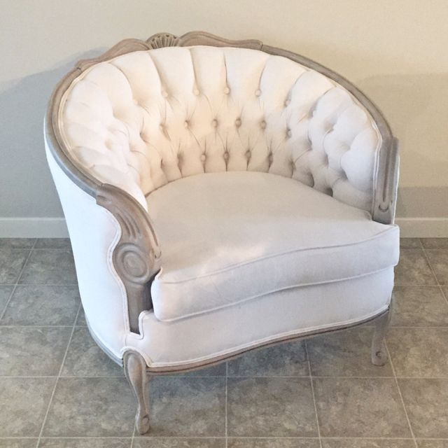 Diamond Tufted Back Chair Refinish Project...
