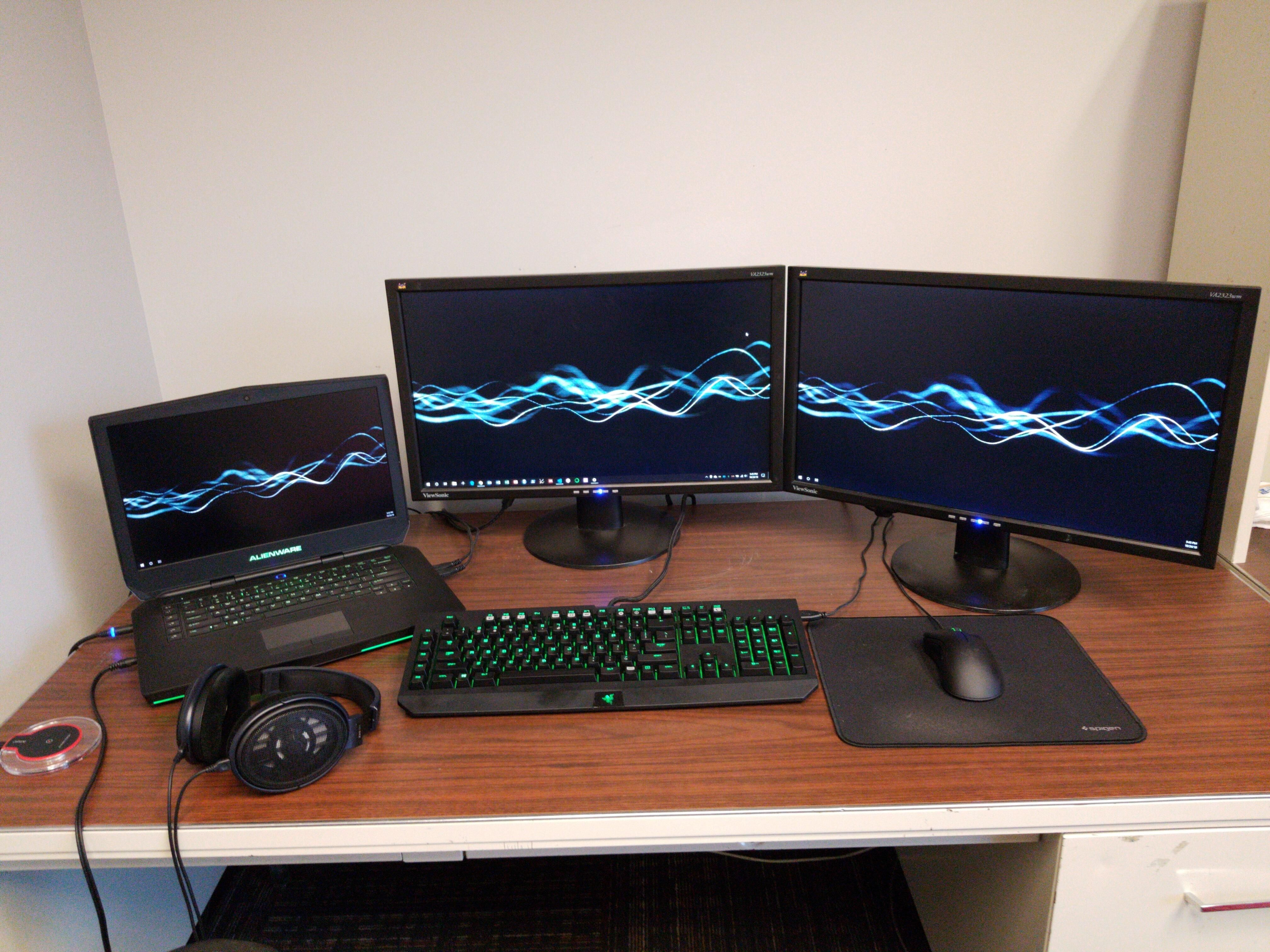Battlestation For Work Play Surprised How Much This Laptop Can