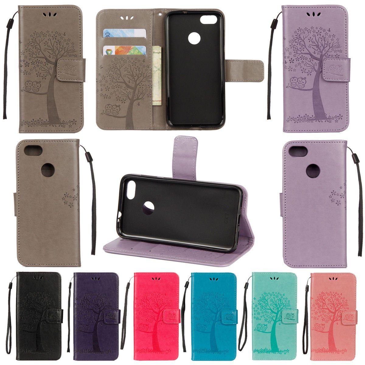 sports shoes 8cce2 82590 $1.5 - For Huawei P Smart Luxury Magnetic Flip Stand Card Wallet ...