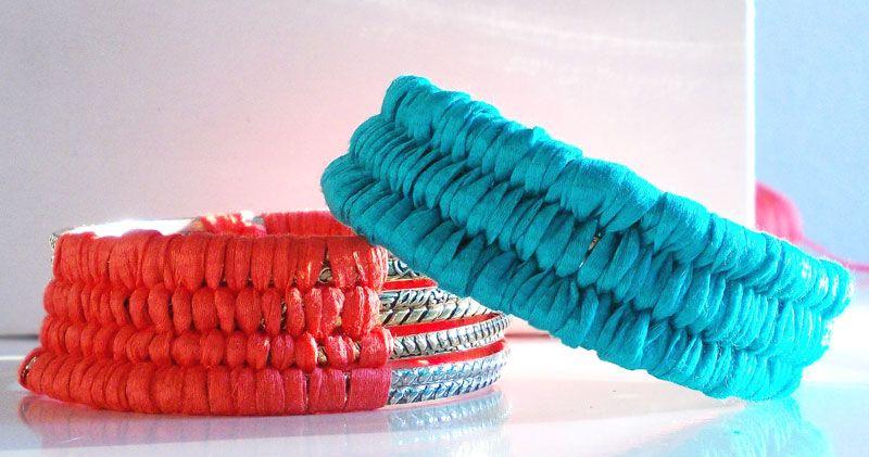 DIY Armreif mit Wolle