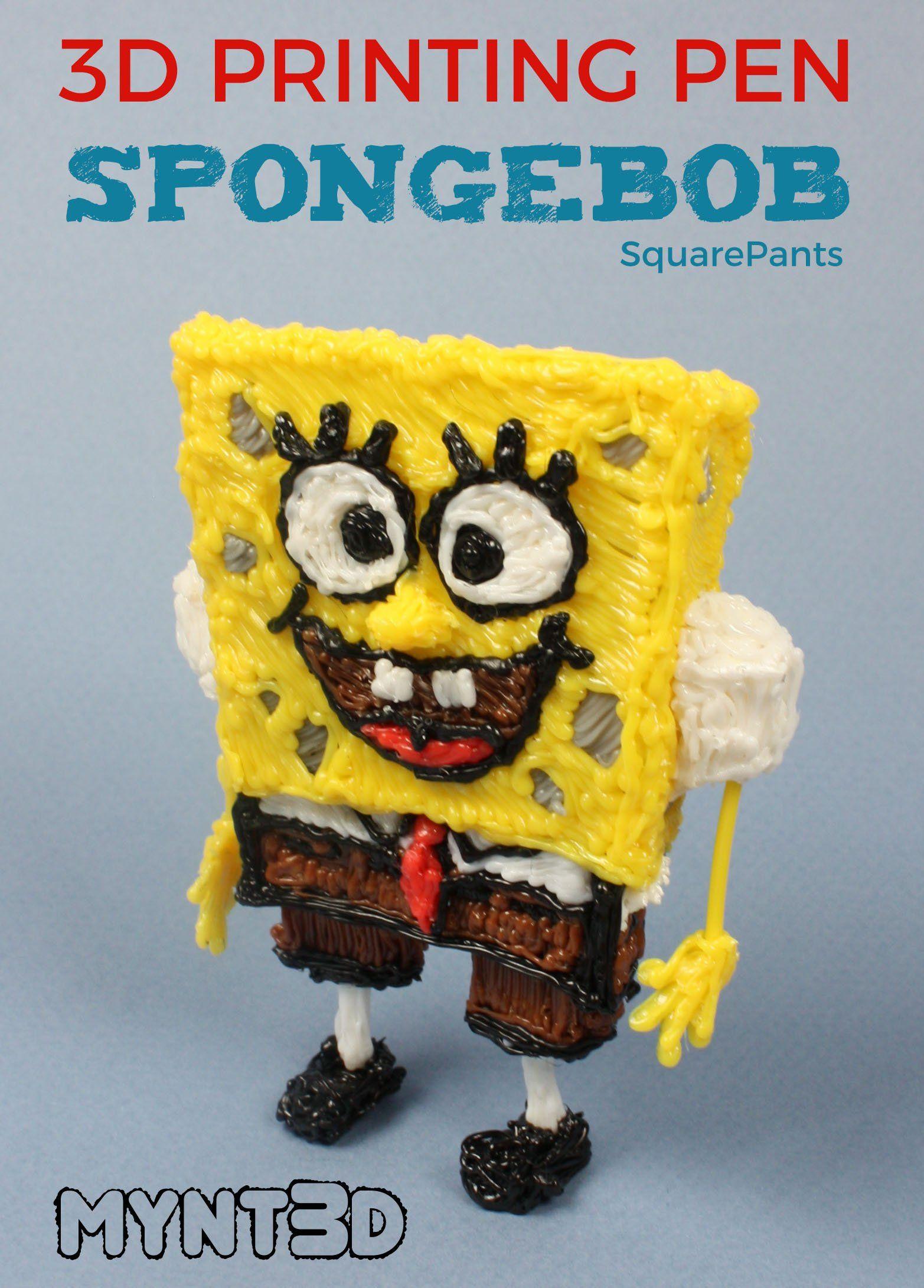3d Pen Spongebob Project Blogging Boost Pinterest 3d Pen