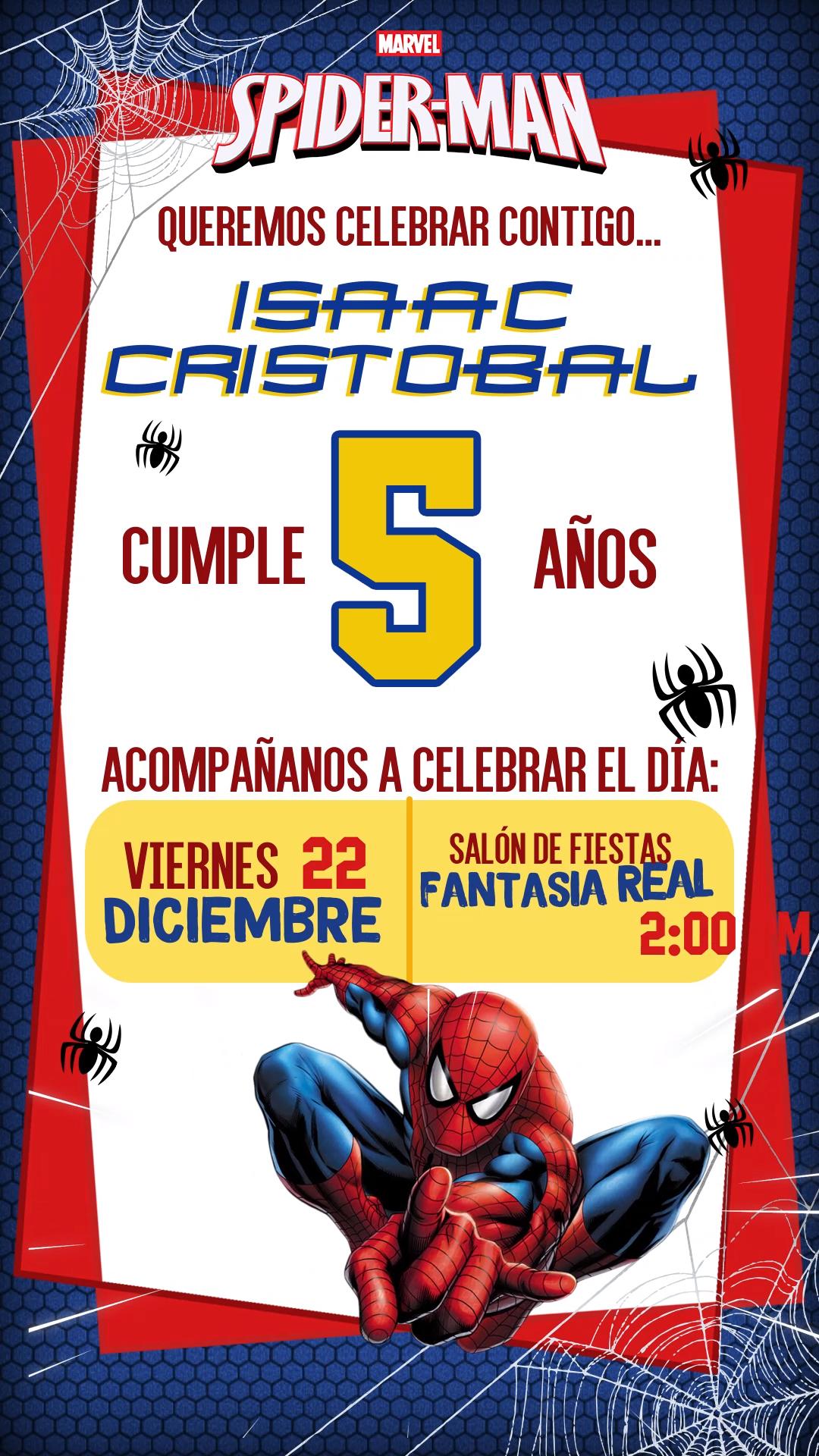 Tarjeta De Invitacion Animada Del Hombre Arana Video Video Invitacion De Spiderman Hacer Invitaciones De Cumpleanos Invitaciones Digitales