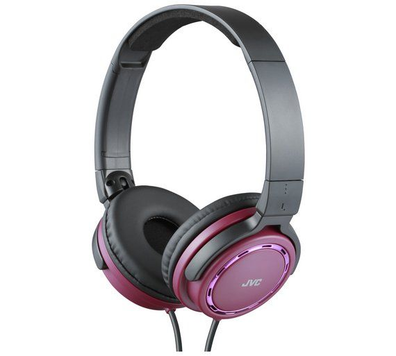 55a0f25b038 Buy JVC HA-S520 On-Ear Headphones - Red at Argos.co.uk, visit Argos.co.uk  to shop online for Headphones and earphones, iPod, MP3 and headphones,  Technology