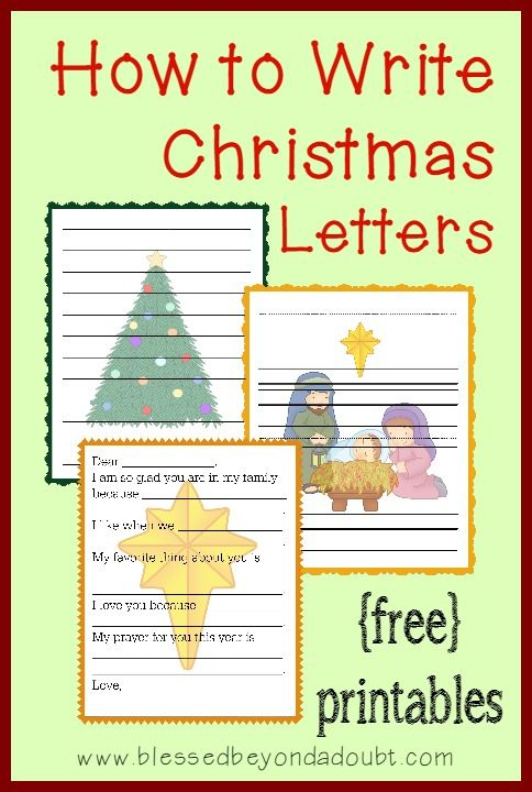 How To Write Christmas Letters With Free Templates  Christmas