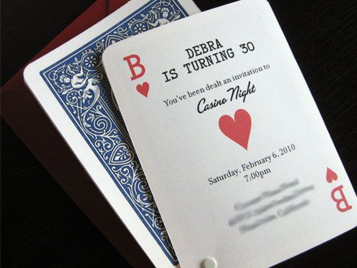 Planning a surprise birthday party casino style Perfect playing – Casino Birthday Party Invitations