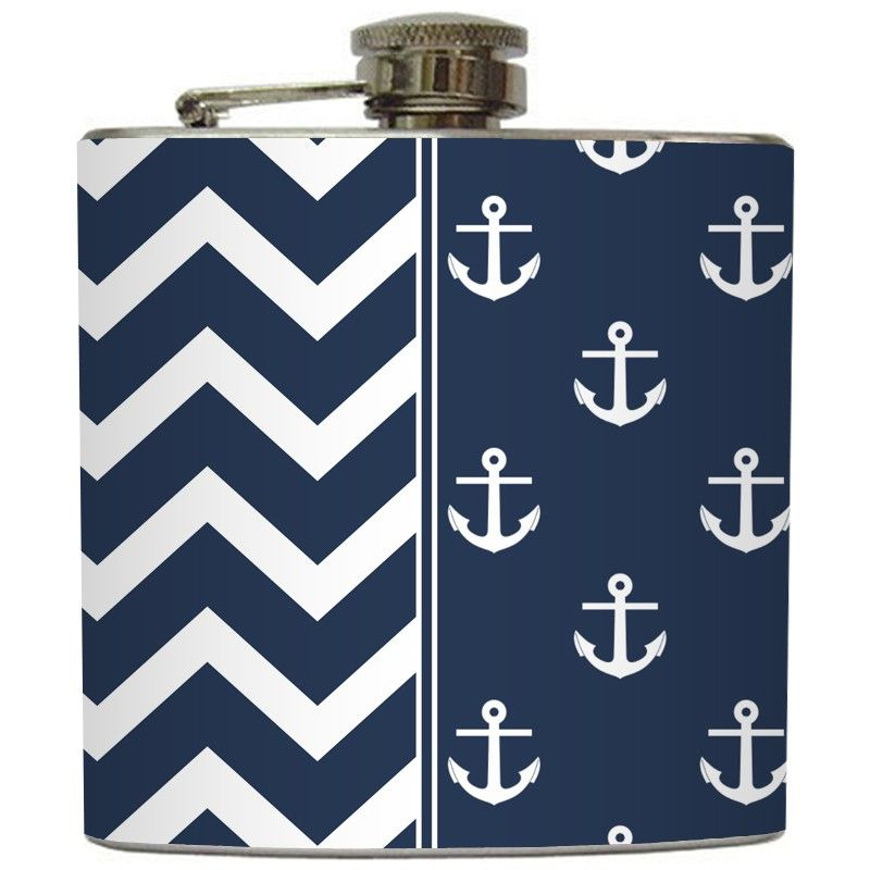 Nautical and State flag Flasks