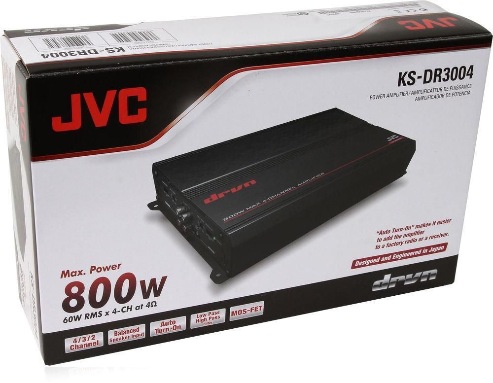 JVC KSDR3004 800 W Max DRVN Class AB Bridgeable 4 Channel