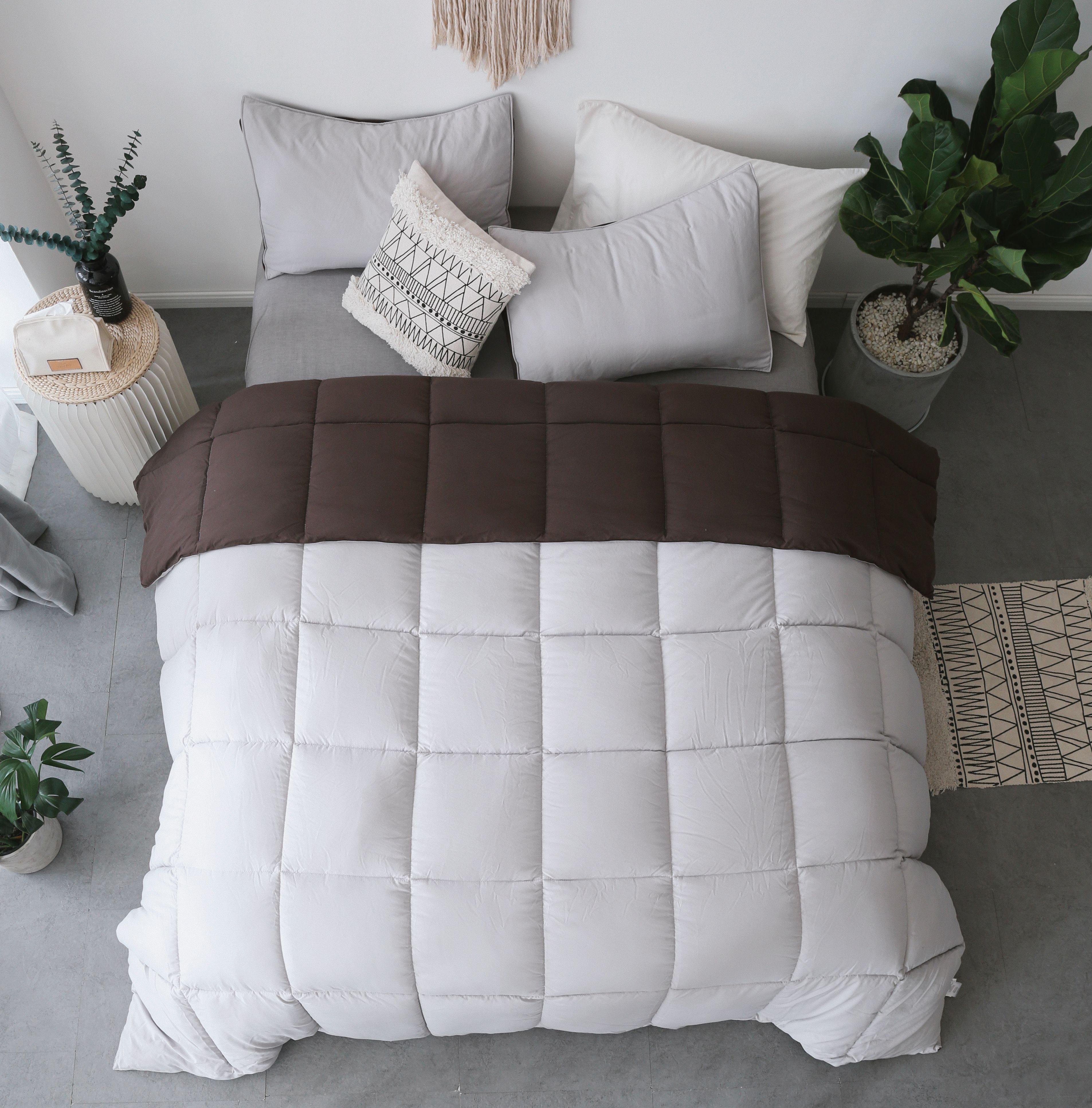 This Plush & Extra Cozy Two Tone Reversible Comforter Set