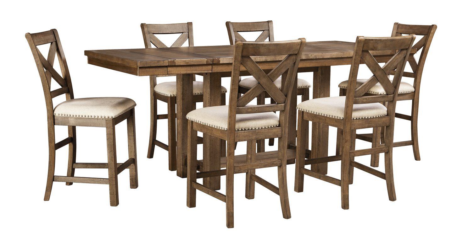Hillary Counter Height Extendable Dining Table Extendable Dining