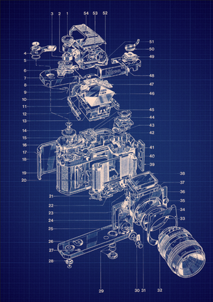 Blueprint of nikon camera film cameras pinterest nikon cameras blueprint of nikon camera malvernweather Images