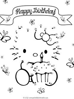 Instead, do hello kitty color by numbers and add a box of