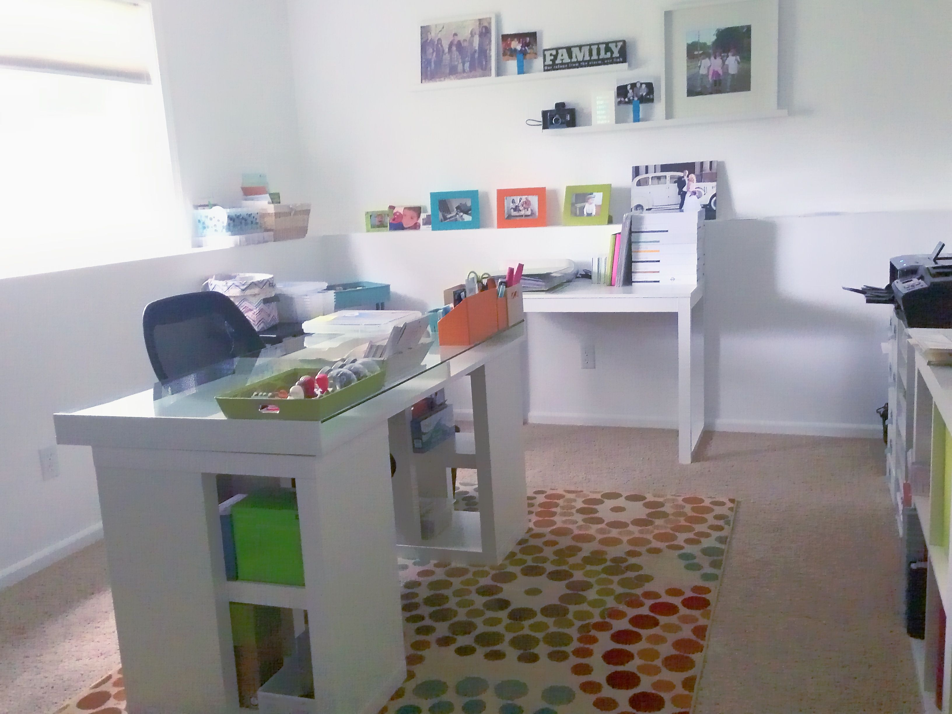 My home office. I edit my images and also scrap in this space. @ReginaWhitePhotography