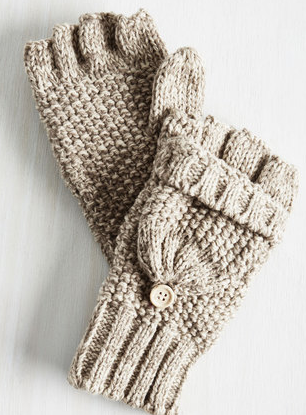 tan warm gloves