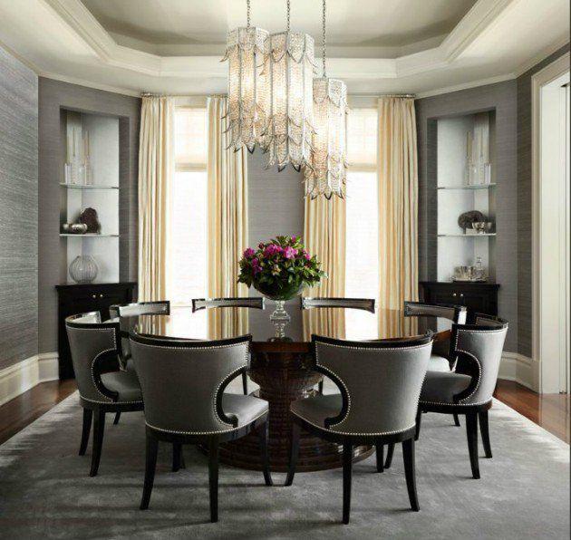 17 Classy Round Dining Table Design Ideas Elegant Dining Room