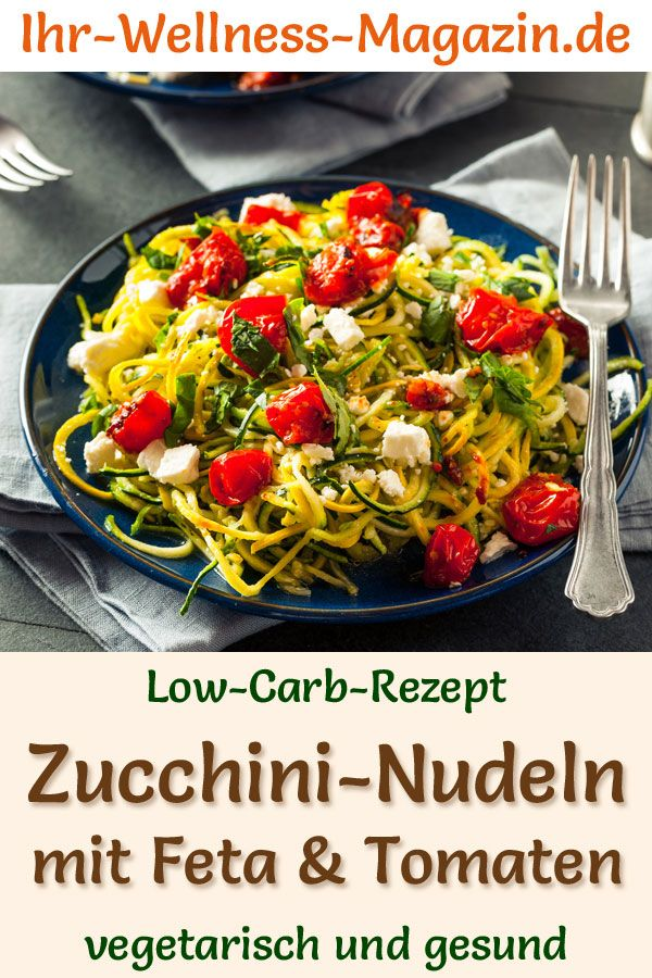 Photo of Zucchini pasta with feta for weight loss – low carb and vegetarian