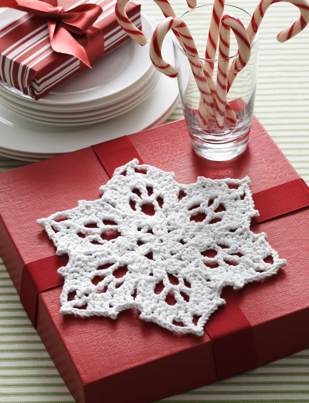 Yarnspirations.com - Bernat - Snowflake Dishcloth | Christmas ...