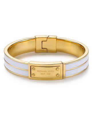 Michael Kors Enamel Plaque Bangle Bracelet  Bloomingdale's
