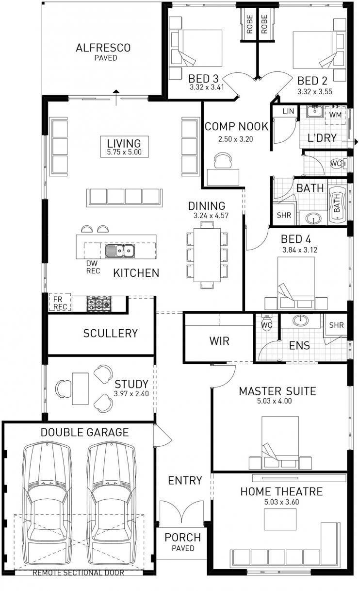The Epic Four Bed Small Lot House Promotion Domain By Plunkett House Plans Floor Plans My House Plans