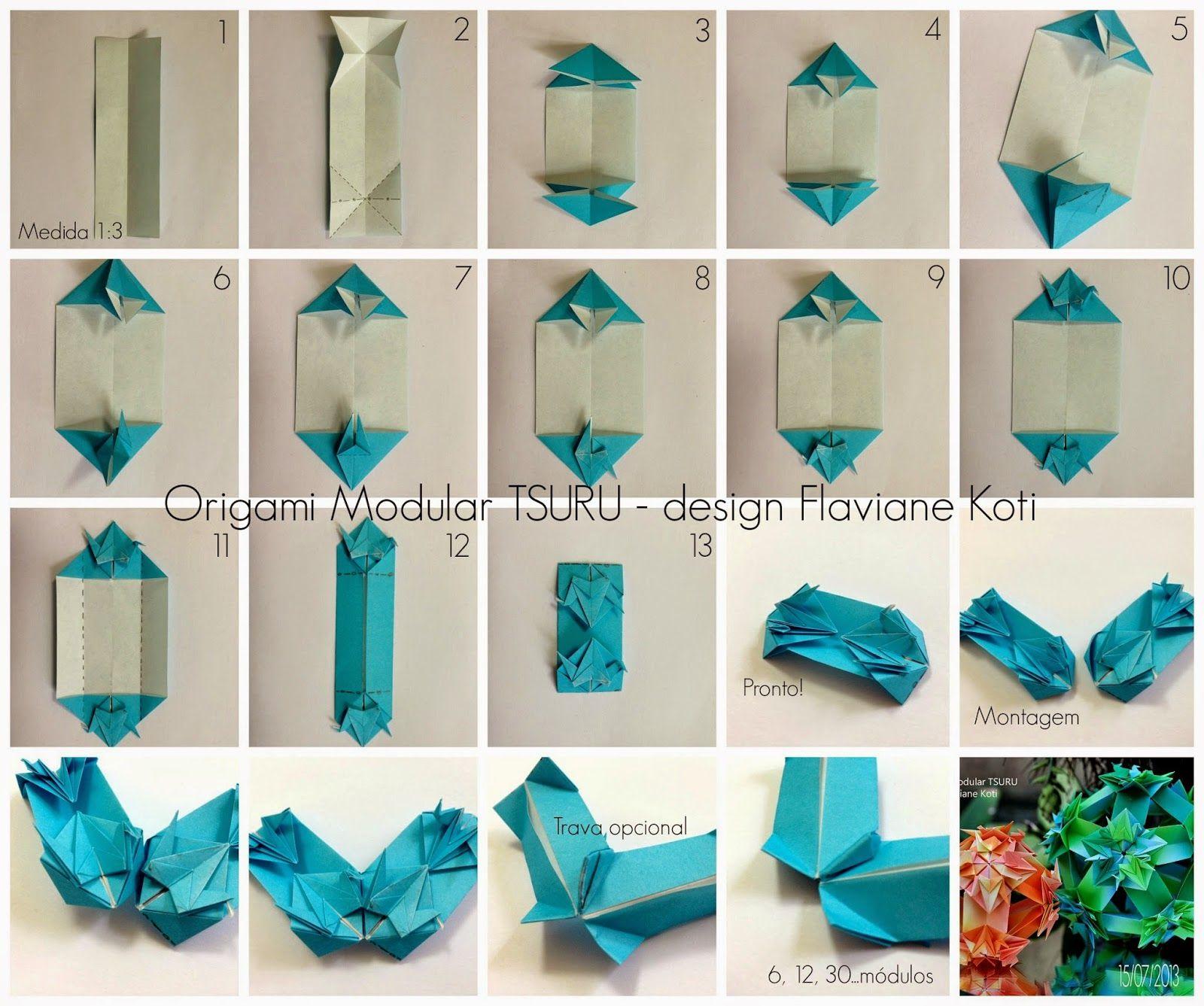 Terapia Do Papel Foto Tutorial Origami Modular Tsuru Curiosidades Kusudama Diagrams Design Flaviane Koti