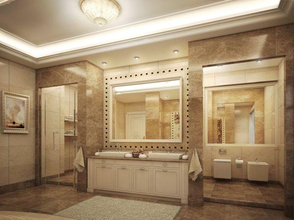 Spiegellampen Badezimmer ~ Badezimmer lampen deckenleuchte einbauleuchten badezimmer ideen