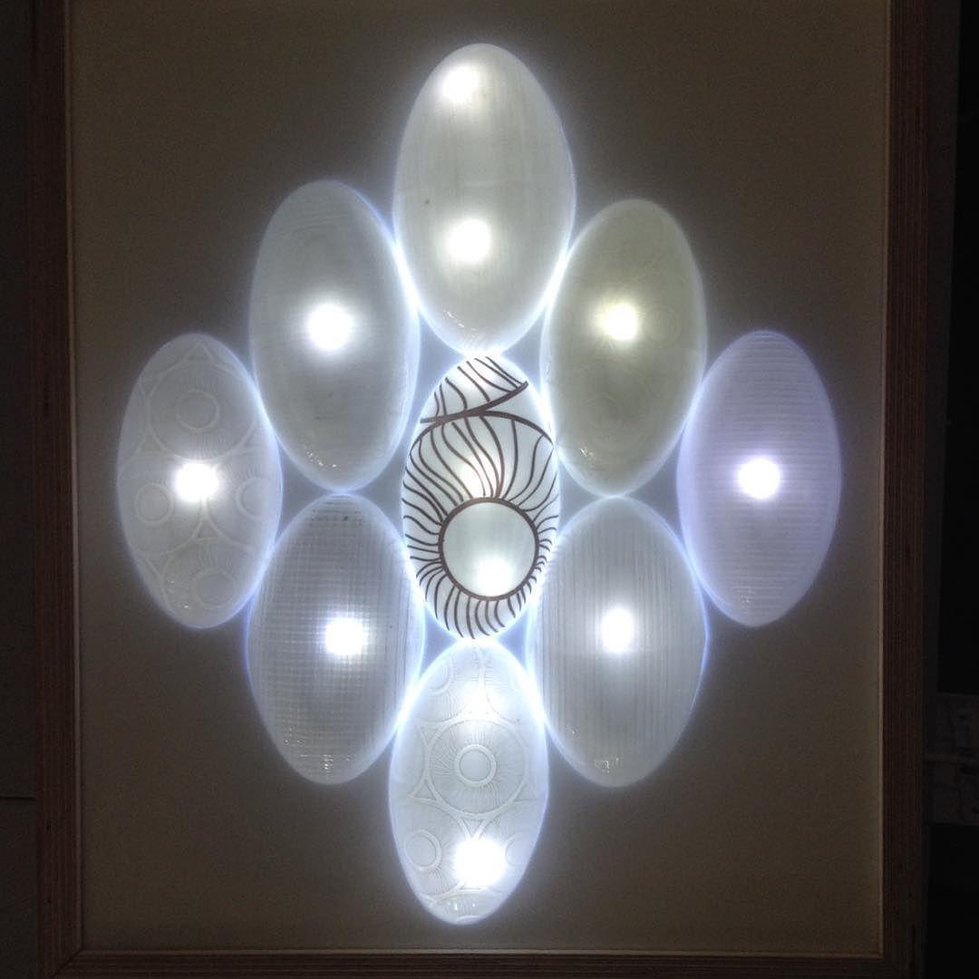 Light almost finished #light #lightdesign #arduino #plastic #HIP #wood #beetlelight #beetledesign #walllight #print #lasercut by aimee_mclaren_design