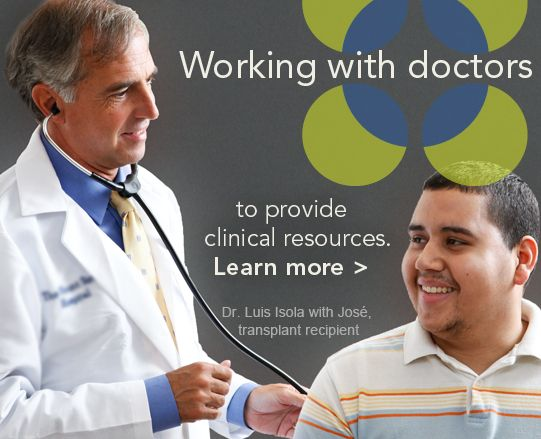Be The  Match works with doctors to provide clinical resources about bone marrow transplantation. www.BeTheMatch.org