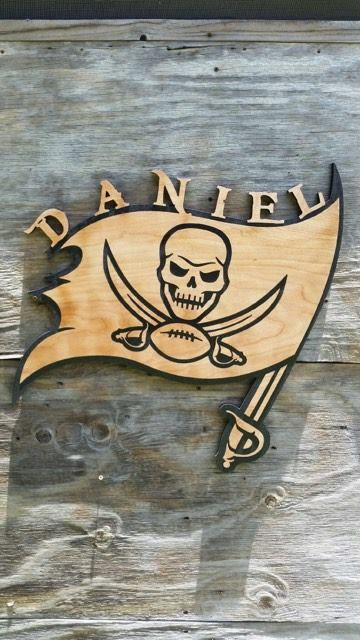 01ca6b31 Tampa Bay Bucs Football Personalized Wooden Flag by Southernkeeps ...