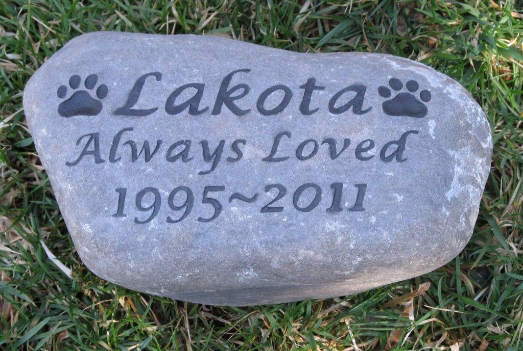 personalized pet memorial gravestone grave marker dog cat memorial