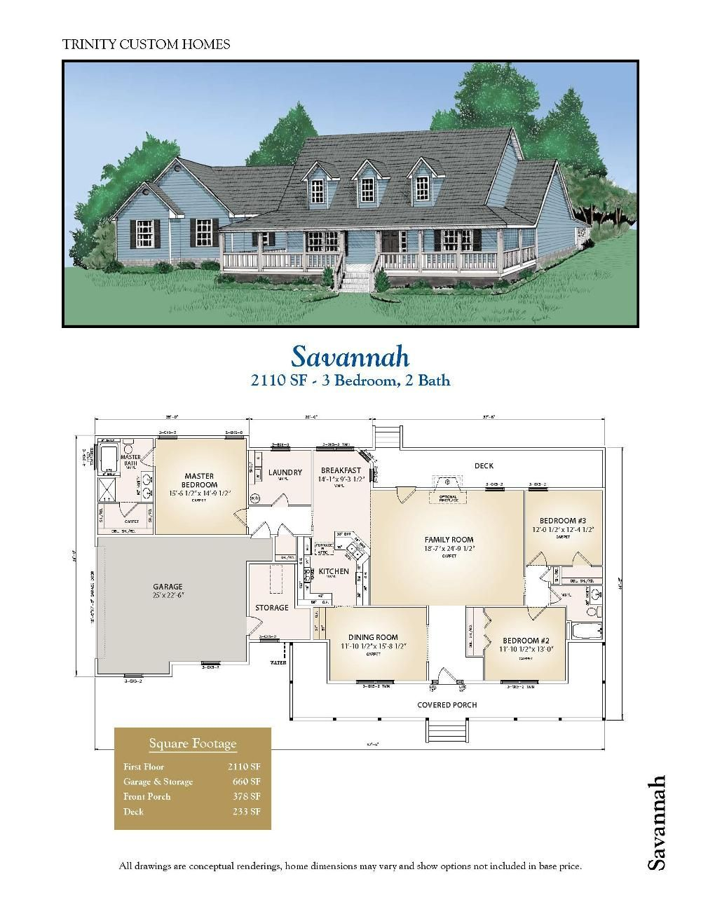 Trinity custom homes savannah floor plan maybe if they for Trinity house plans