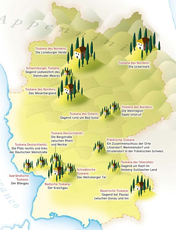 Deutschland Land Der Toskanen Deutschlandkarte Karte Deutschland Deutschland