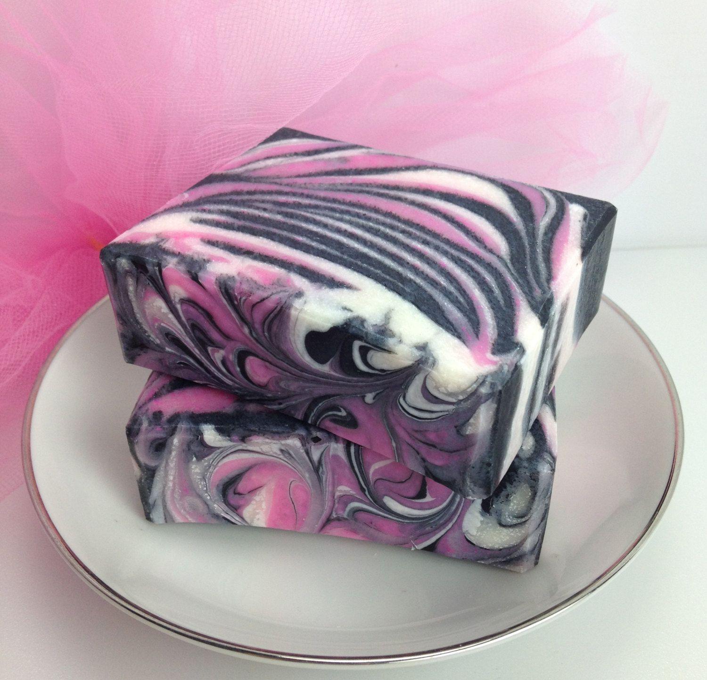 Pretty in Pink Olive Oil Soap by IvyCoreenBathBody on Etsy, $6.00