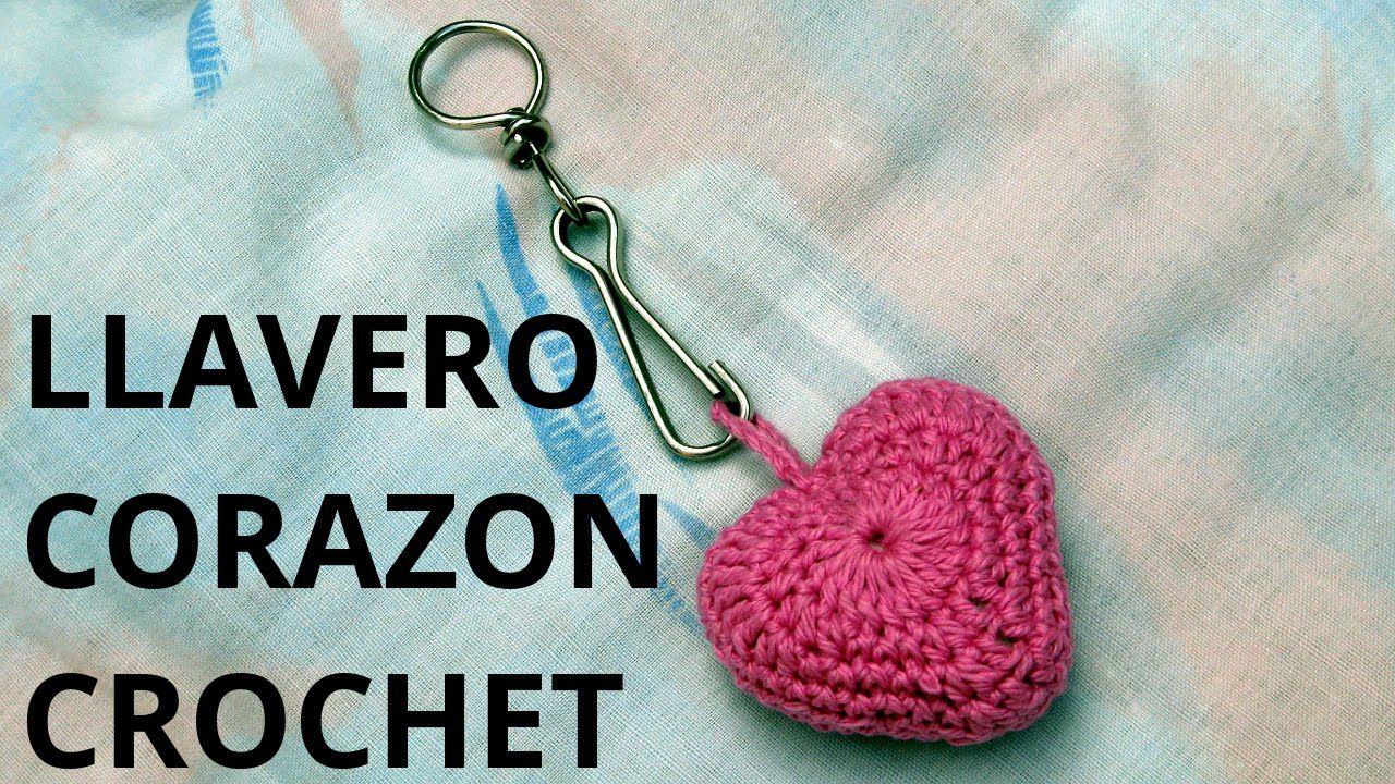 Llavero corazón en tejido crochet tutorial paso a paso.