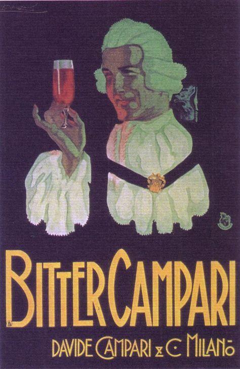 Bitter Campari ~ Achille Mauzan | Quench your thirst | Pinterest ...