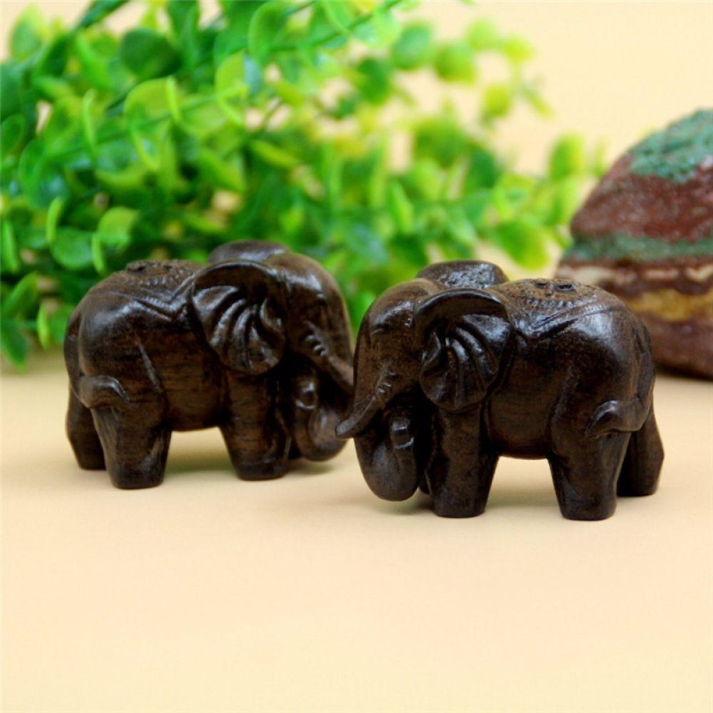 2PCS Decor Miniatures Artificial  Elephant Fairy Garden Gnomes Moss Resin Crafts