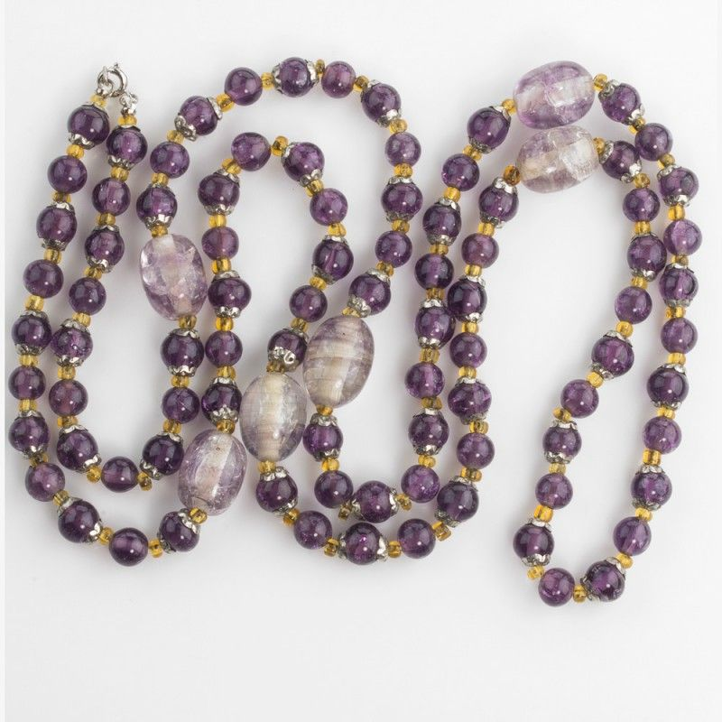Crackled Amethyst Glass Beads