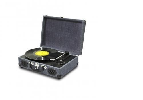 NEW QFX BLUETOOTH RETRO BRIEFCASE 3 SPEED BELT DRIVE TURNTABLE STEREO-GREY #QFX #Buydirectincstore