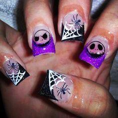 4f1fa35d7824e5b4a76b0caa10ae3d61 Jpg 236 236 Nightmare Before Christmas Nails Halloween Nails Nail Designs