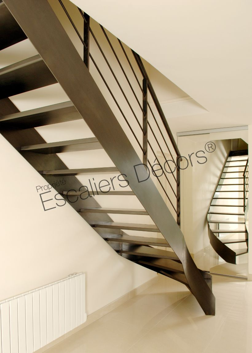 Escalier 1 4 Tournant Balance Escaliers Decors Escalier
