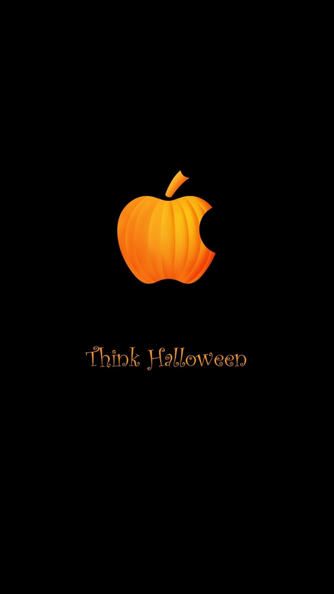 Appleのロゴ風ハロウィン壁紙 ハロウィン壁紙 ハロウィングッズ