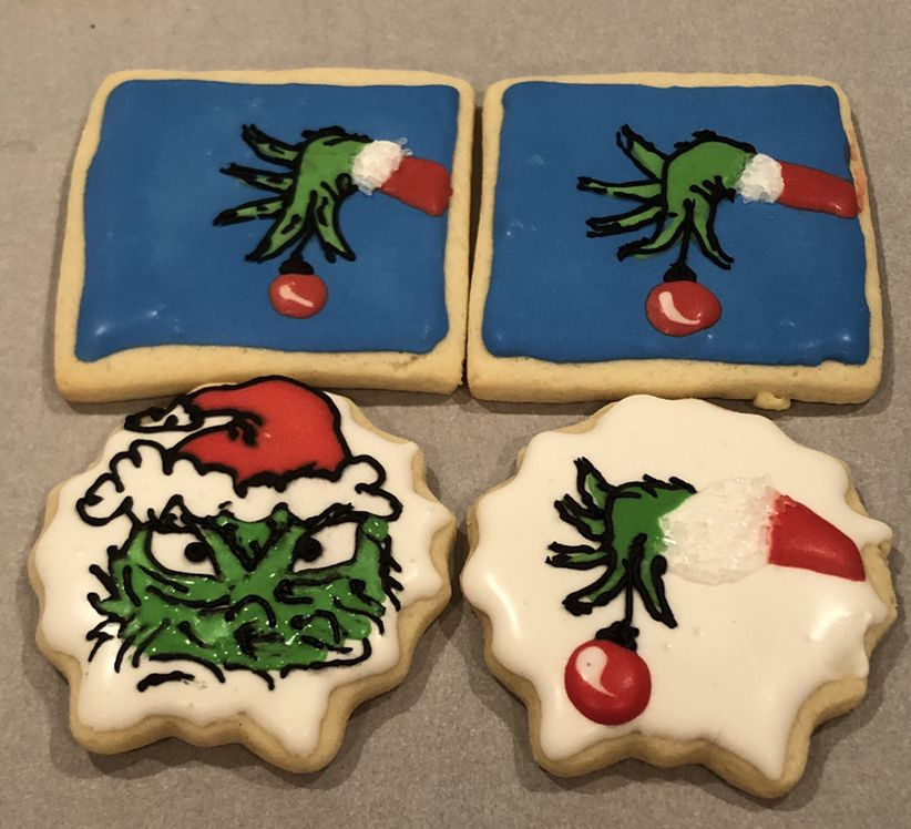 Christmas Grinch Sugar Cookies 2018 My Own Sweet Creations Sugar