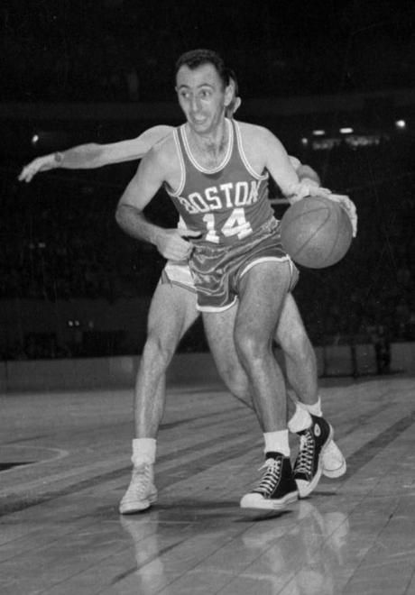 61c5e52e30bda9 Boston Celtic Bob Cousy wears a pair of Chuck Taylors in this 1963 game  against the Knicks. Associated Press.