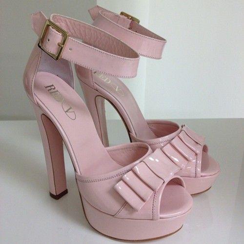 #REDValentino's patent leather plateaux pumps - F/W '12-'13 Pre collection. #royalweddingmood #pinkpassion