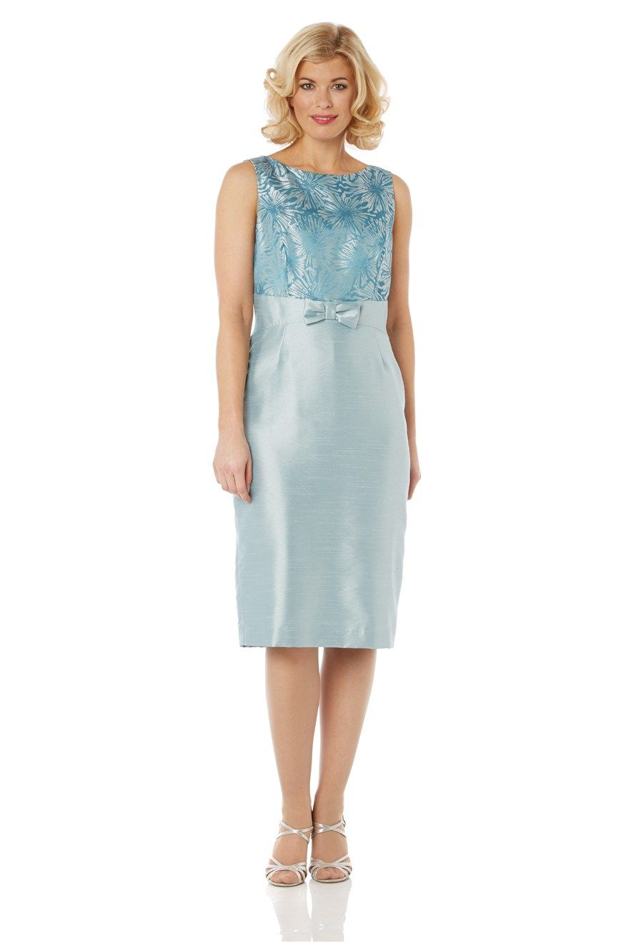 Jacquard Bow Detail Dress - at Roman Originals | mother of the bride ...
