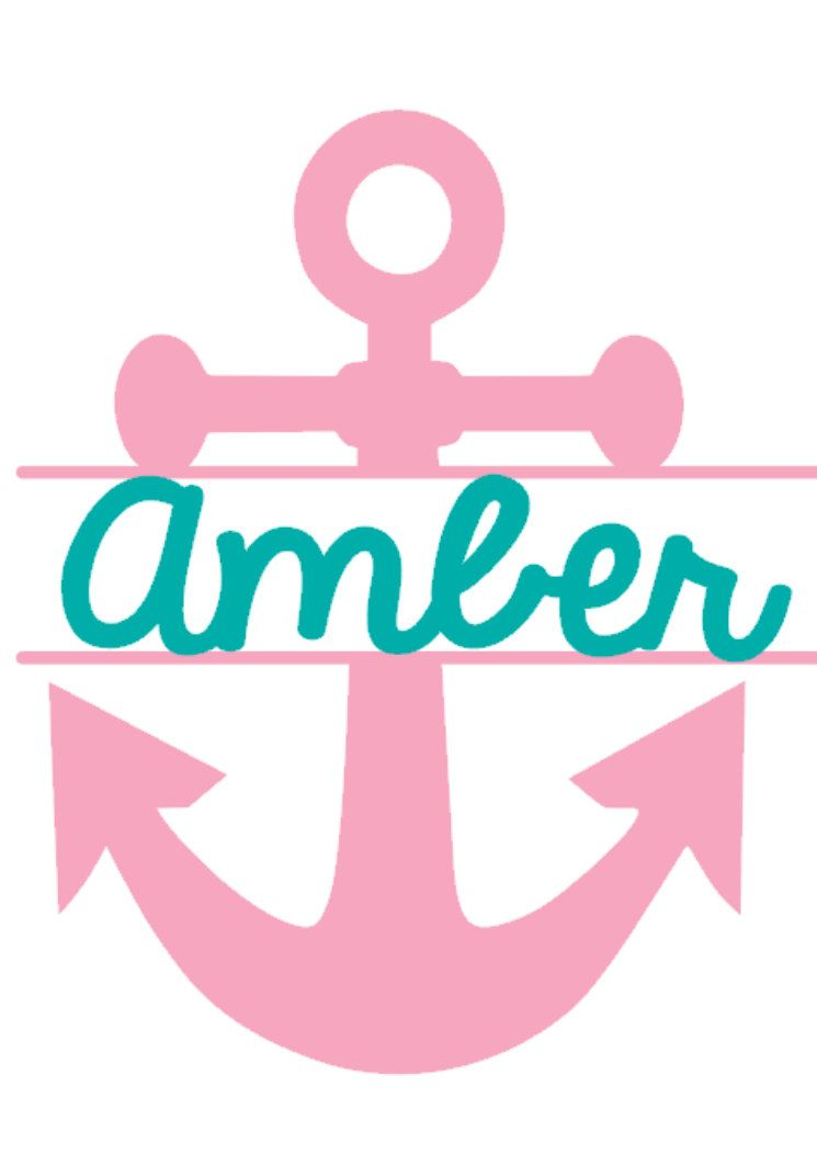 Personalized Anchor Decal Nautical Sticker Deltagamma Dg Big - Anchor custom vinyl decals for car