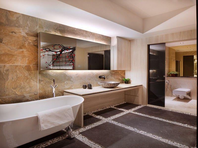 Badspiegel mit Beleuchtung im Badezimmer inszenieren - 50 Ideen
