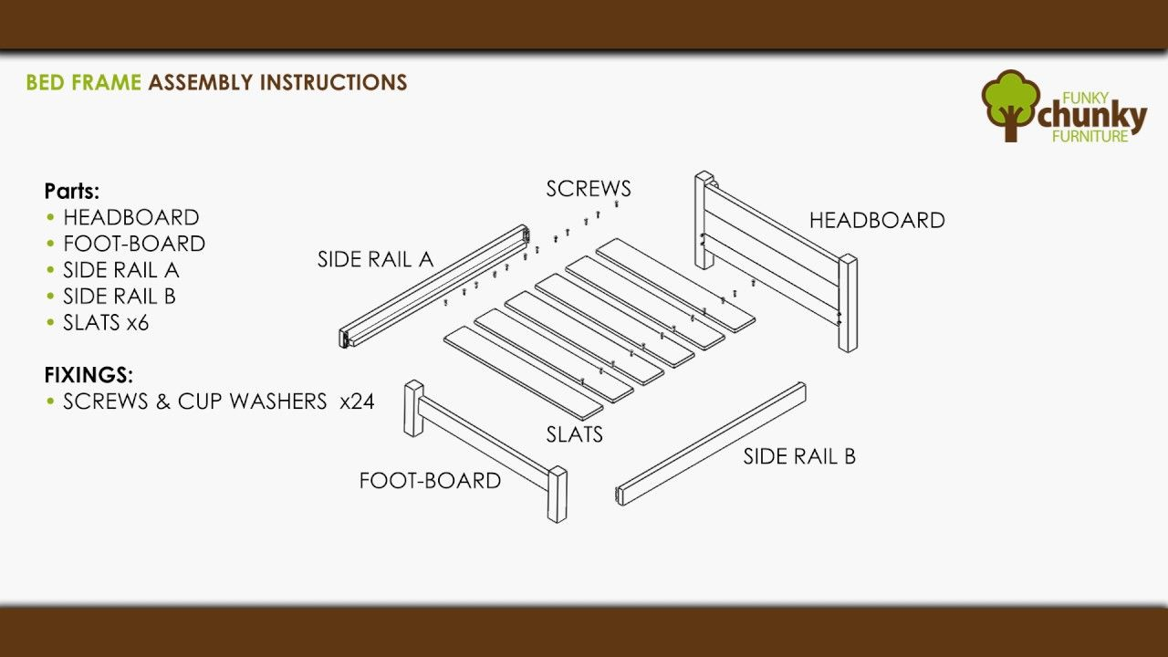 Funky Chunky Furniture Bed Frame Assembly Instructions