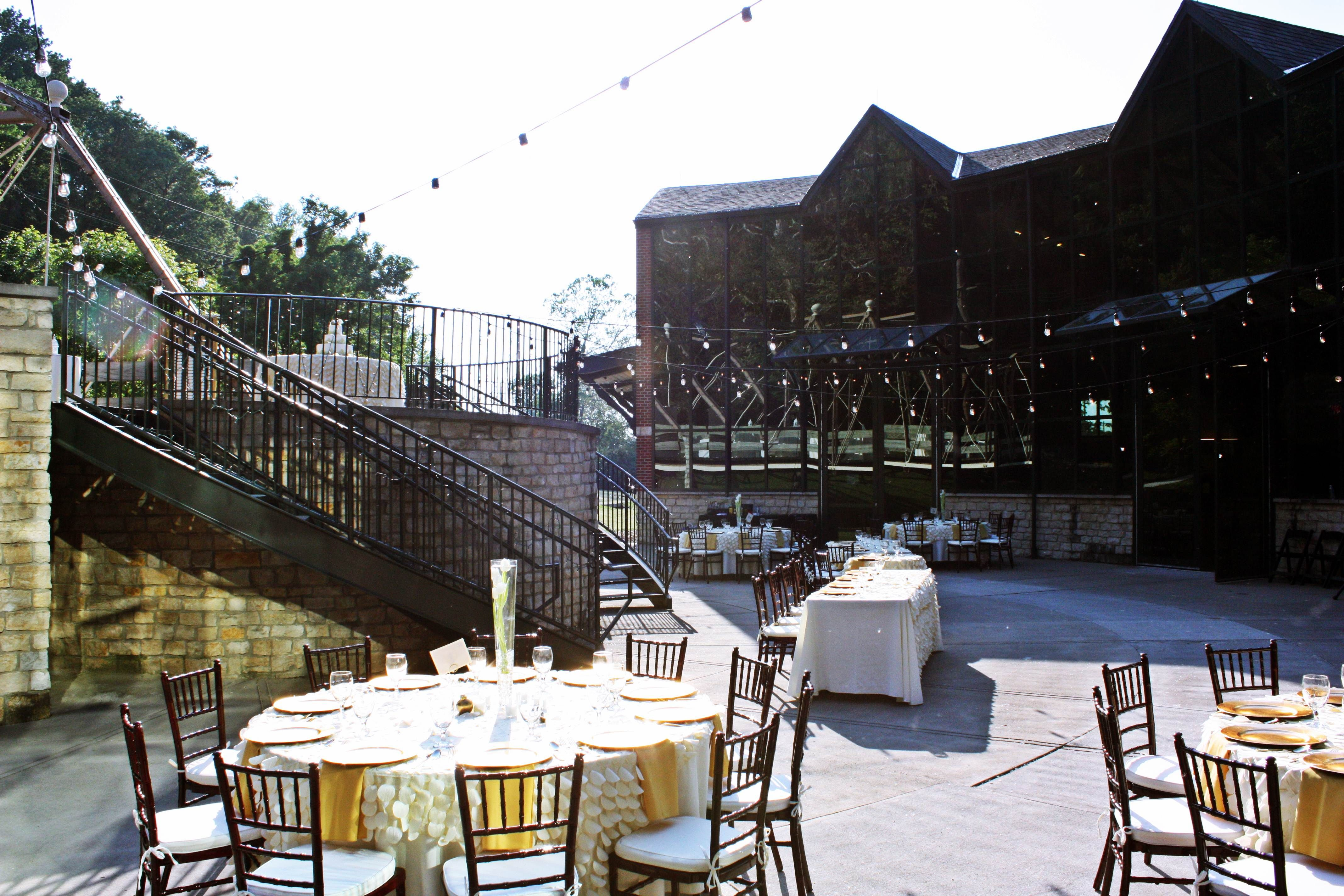 wedding reception at f dicke family transportation center
